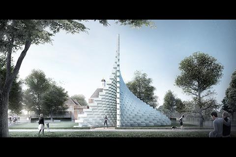 Zipper - Serpentine Pavilion 2016 designed by Bjarke Ingels Group (BIG)